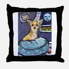 Chihuahua in Bed Throw Pillow