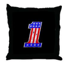 USA 1 VINTAGE CHROME EMBLEM Throw Pillow