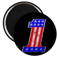 USA 1 VINTAGE CHROME EMBLEM Magnet