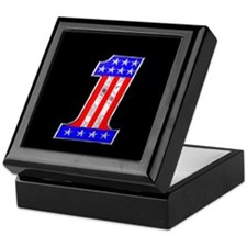 USA 1 VINTAGE CHROME EMBLEM Keepsake Box