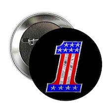 """USA 1 VINTAGE CHROME EMBLEM 2.25"""" Button"""