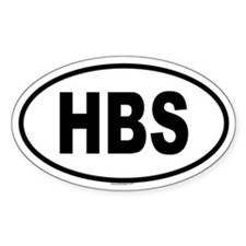 HBS Oval Decal