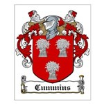 Cummins Family Crest Small Poster