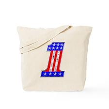 USA 1 VINTAGE CHROME EMBLEM Tote Bag