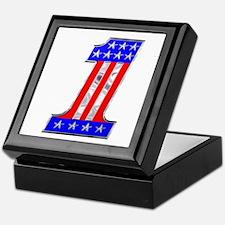 USA 1 VINTAGE CHROME EMBLEM Keepsake Box