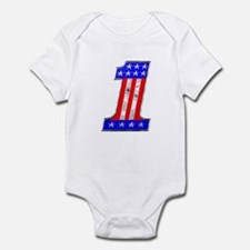 USA 1 VINTAGE CHROME EMBLEM Infant Bodysuit