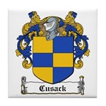 Cusack Family Crest Tile Coaster