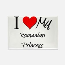 I Love My Romanian Princess Rectangle Magnet