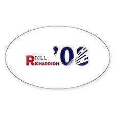 Bill Richardson 08 Oval Decal