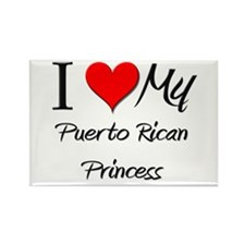 I Love My Puerto Rican Princess Rectangle Magnet