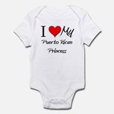 I Love My Puerto Rican Princess Infant Bodysuit