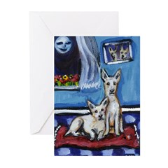 CANAAN DOG art Greeting Cards (Pk of 10)
