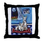 CANAAN DOG art Throw Pillow