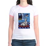 CANAAN DOG art Jr. Ringer T-Shirt