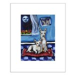 CANAAN DOG art Small Poster