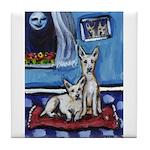 CANAAN DOG art Tile Coaster