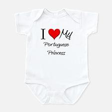 I Love My Portuguese Princess Infant Bodysuit
