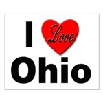 I Love Ohio Small Poster