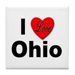 I Love Ohio Tile Coaster