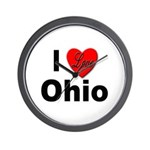 I Love Ohio Wall Clock
