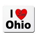 I Love Ohio Mousepad