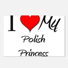 I Love My Polish Princess Postcards (Package of 8)