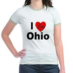 I Love Ohio (Front) Jr. Ringer T-Shirt