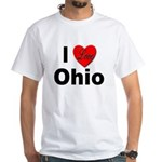 I Love Ohio (Front) White T-Shirt