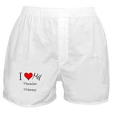 I Love My Peruvian Princess Boxer Shorts