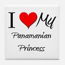 I Love My Panamanian Princess Tile Coaster