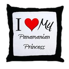 I Love My Panamanian Princess Throw Pillow
