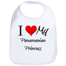 I Love My Panamanian Princess Bib