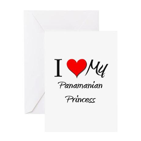 I Love My Panamanian Princess Greeting Card
