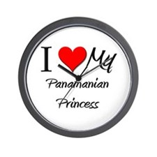 I Love My Panamanian Princess Wall Clock
