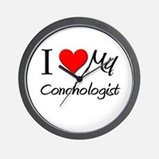 I Heart My Conchologist Wall Clock
