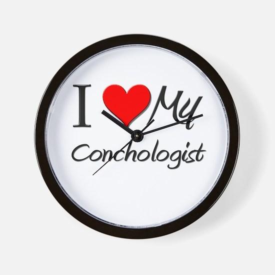 I Heart My Conchologist Wall Clock