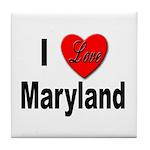 I Love Maryland Tile Coaster