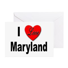I Love Maryland Greeting Cards (Pk of 10)