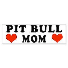 Pit Bull Mom Bumper Car Sticker