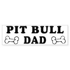 Pit Bull Dad Bumper Car Sticker