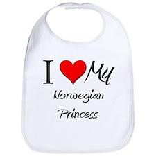 I Love My Norwegian Princess Bib