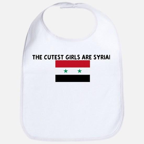 THE CUTEST GIRLS ARE SYRIAN Bib