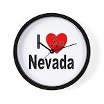 I Love Nevada Wall Clock