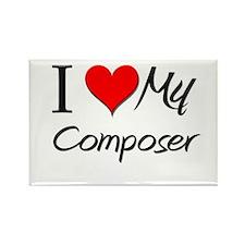 I Heart My Composer Rectangle Magnet