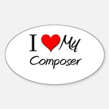 I Heart My Composer Oval Decal