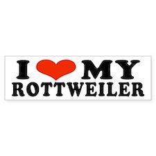 I (Heart) My Rottweiler Bumper Bumper Sticker