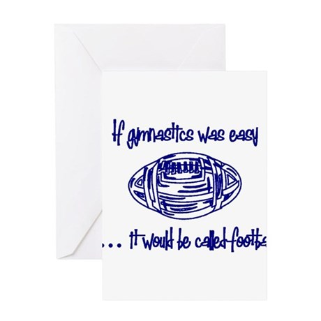 football blue Greeting Cards