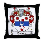 Delany Family Crest Throw Pillow
