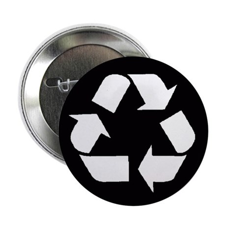 """Recycle 2.25"""" Button (100 pack)"""