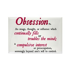 Defining Obsession Rectangle Magnet